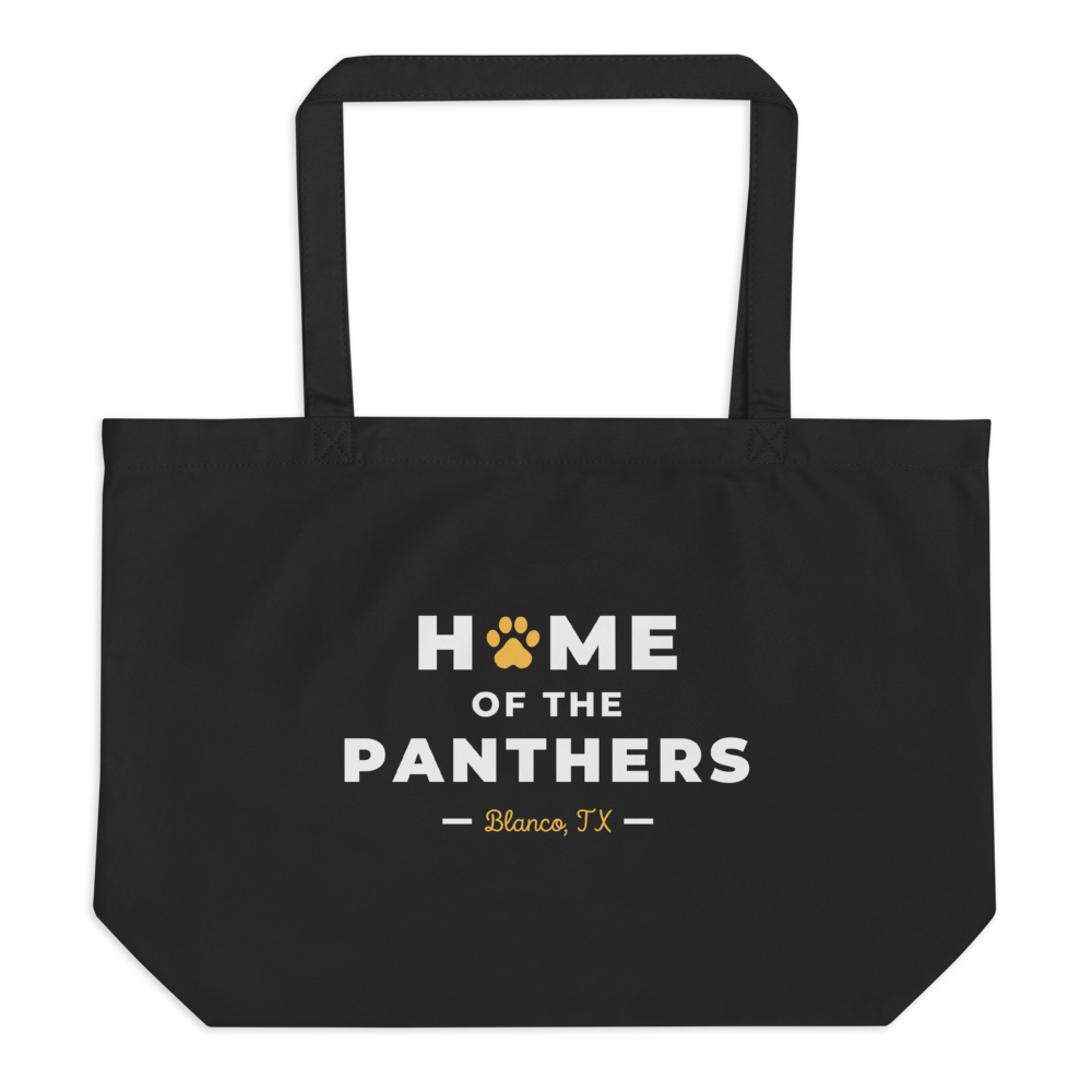 Home of the Panthers Large organic tote bag
