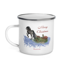 Load image into Gallery viewer, Merry Christmas Enamel Mug