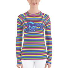 Load image into Gallery viewer, Striped Women's Rash Guard