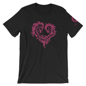 Heart Of Horses Adult Short-Sleeve T-Shirt - Black