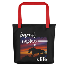 Load image into Gallery viewer, Barrel Racing Is Life Tote bag