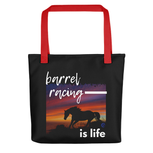 Barrel Racing Is Life Tote bag
