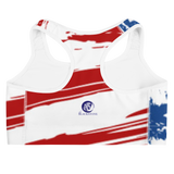 White Horse USA Flag Sports Bra