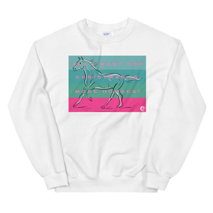 All I Want For Christmas Is More Horses Unisex Sweatshirt