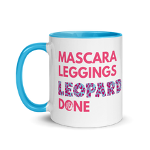 Load image into Gallery viewer, Mascara Leggings Leopard Done Mug with Color Inside