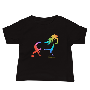 Rainbow Pony Baby Jersey Short Sleeve Tee