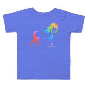 Rainbow Pony Toddler Short Sleeve Tee