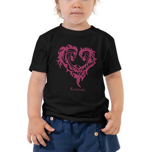 Heart Of Horses Toddler Short Sleeve Tee - Black