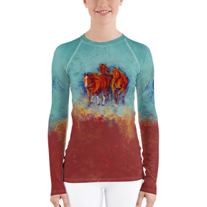 Chica's Herd Women's Rash Guard