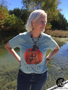 Pumpkin Spice & Ponies Short-Sleeve T-Shirt - Heather Prism Ice Blue