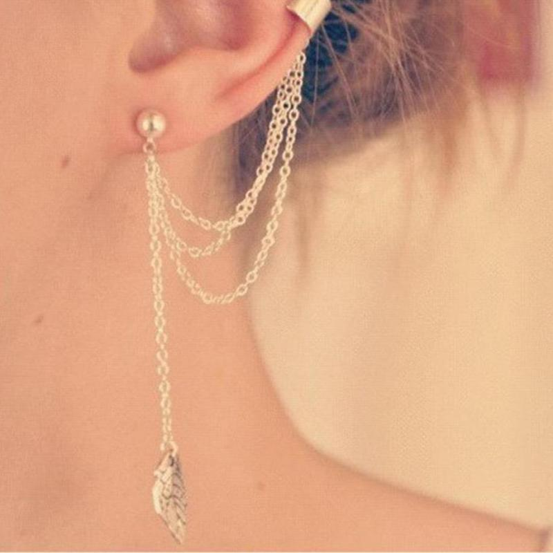Leaf chain earring - FREE (Limited Time Offer)