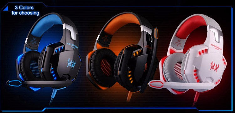 Deep Bass Gaming Headset with Mic (LEDs)