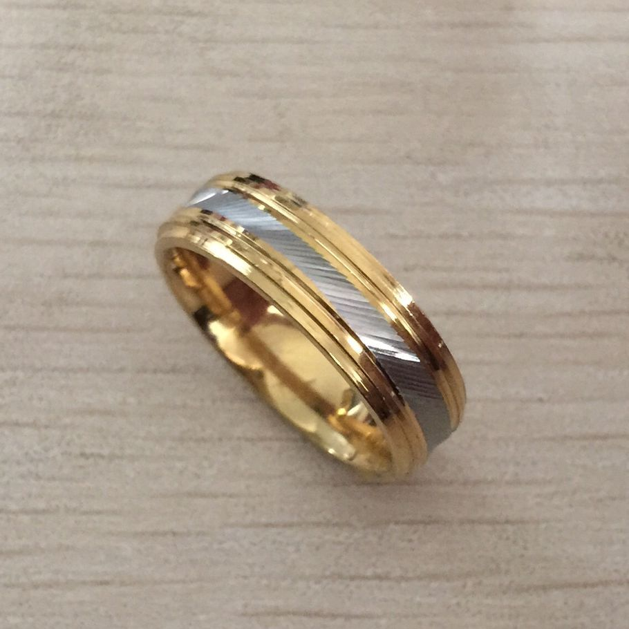 Gold Silver Mens Ring