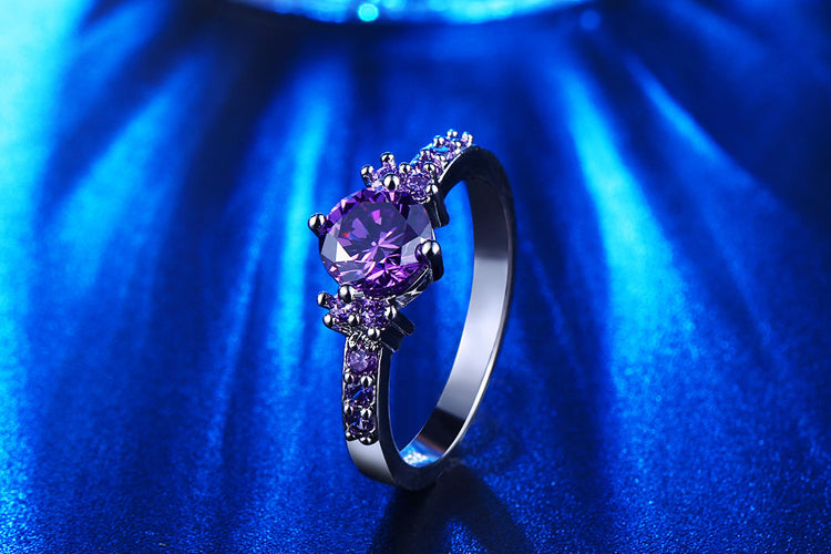 Purple Stone Ring | Free Shipping