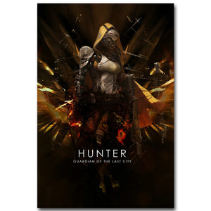 Destiny Hunter Art Silk Fabric Poster Print 13x20 inch