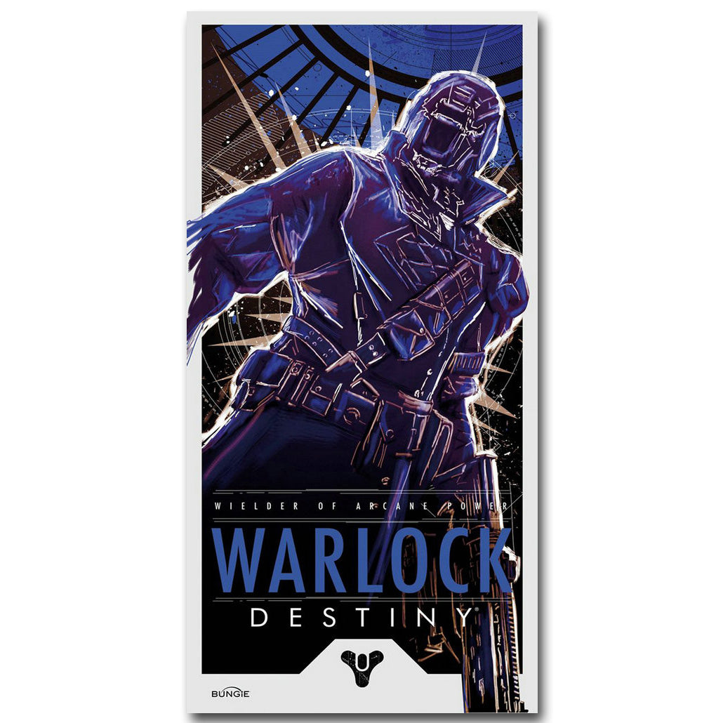 Destiny Warlock Art Silk Fabric Poster Print 13x26