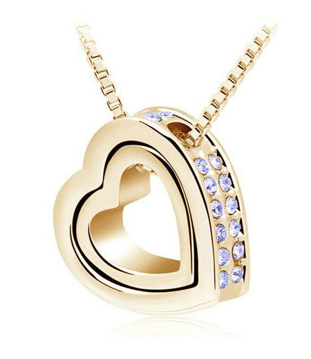Rhinestone Perfect Heart Necklace
