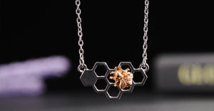 Honeycomb Heart Necklace