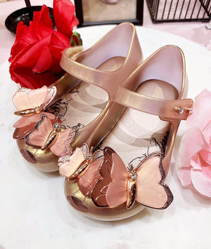 Mini Melissa Ultragirl Butterfly Rose Gold only at ballerine ballerinas Brisbane Australia
