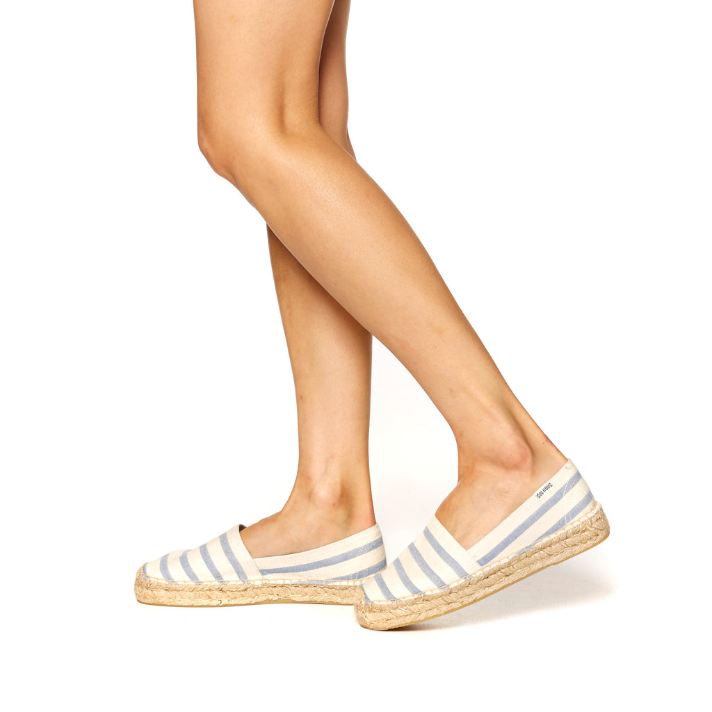 Soludos - Striped Original Platform Natural/Blue