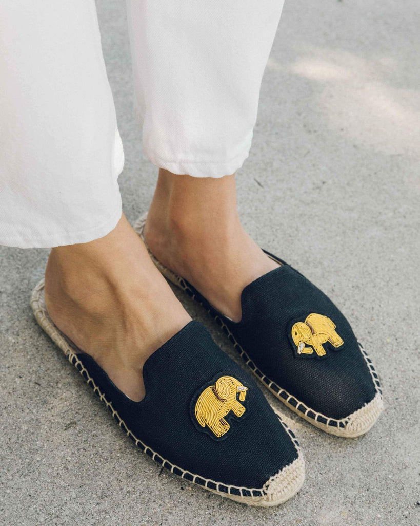 Soludos -Elephant Beaded Mule