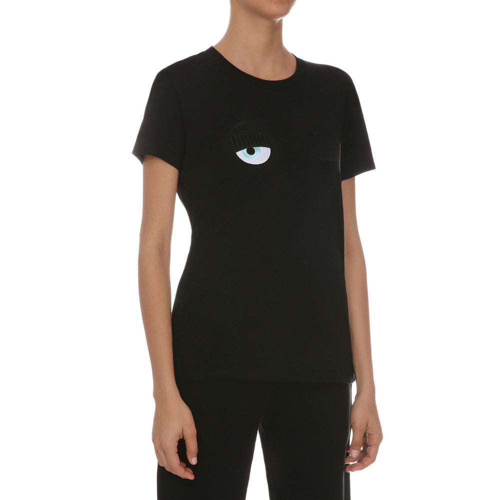 Chiara Ferragni - Flirting Eye T-Shirt Short Sleeve Black