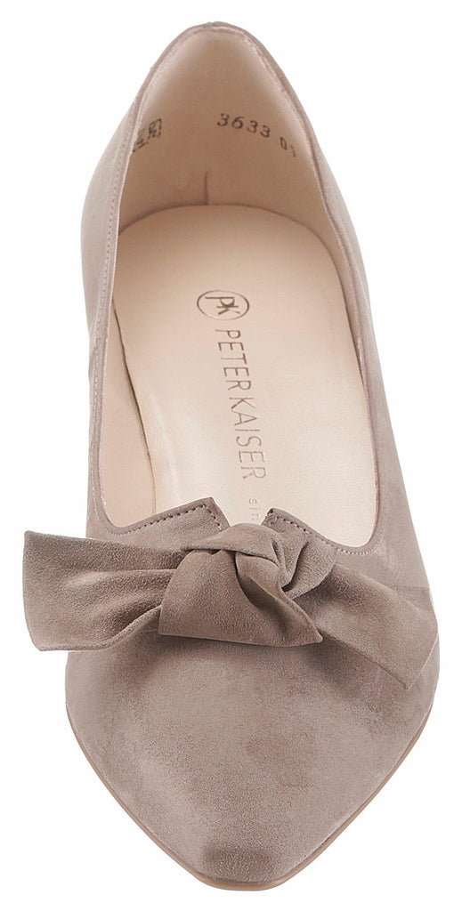 Peter Kaiser - Fur Suede Low Heel Pump with Bow