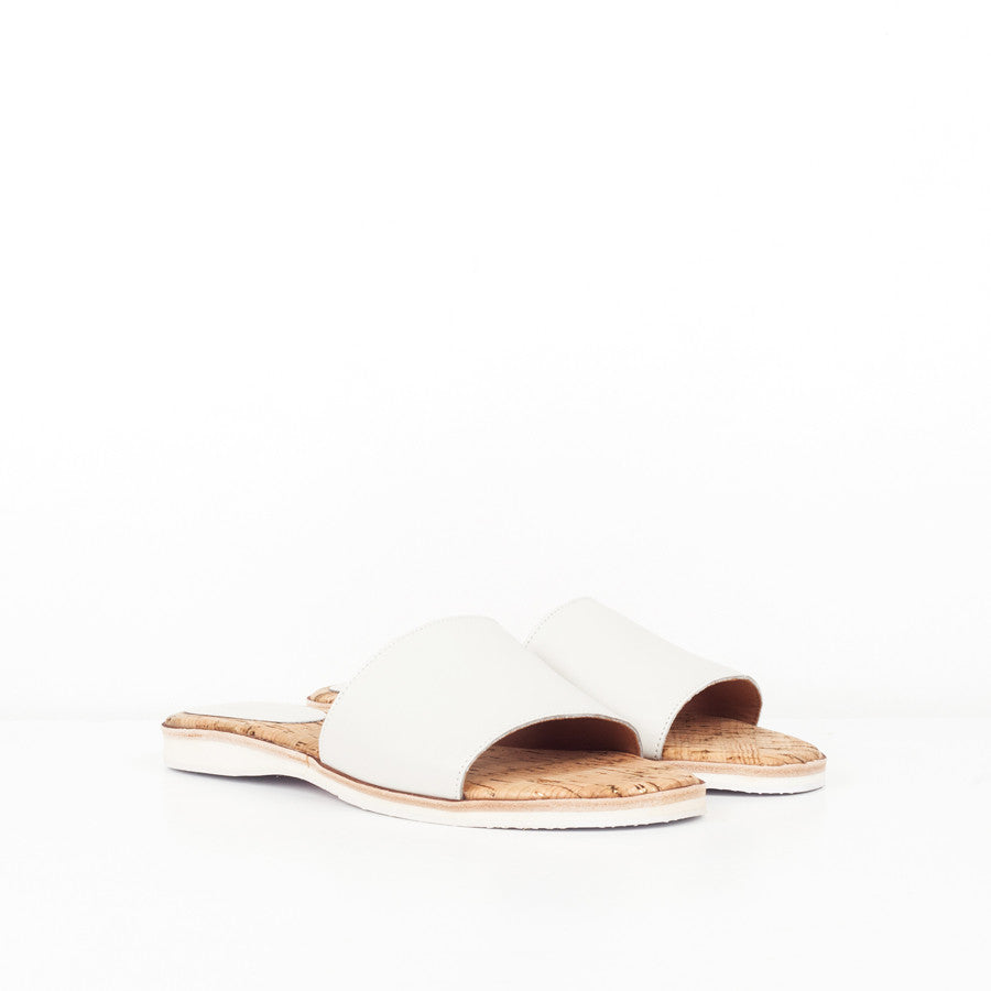 Rollie Nation Sandal Slide White Leather at ballerine ballerinas Brisbane
