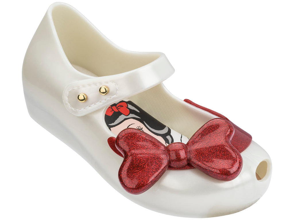 Mini Melissa - Disney Ultragirl Snow White Beige Gloss with Red Bow