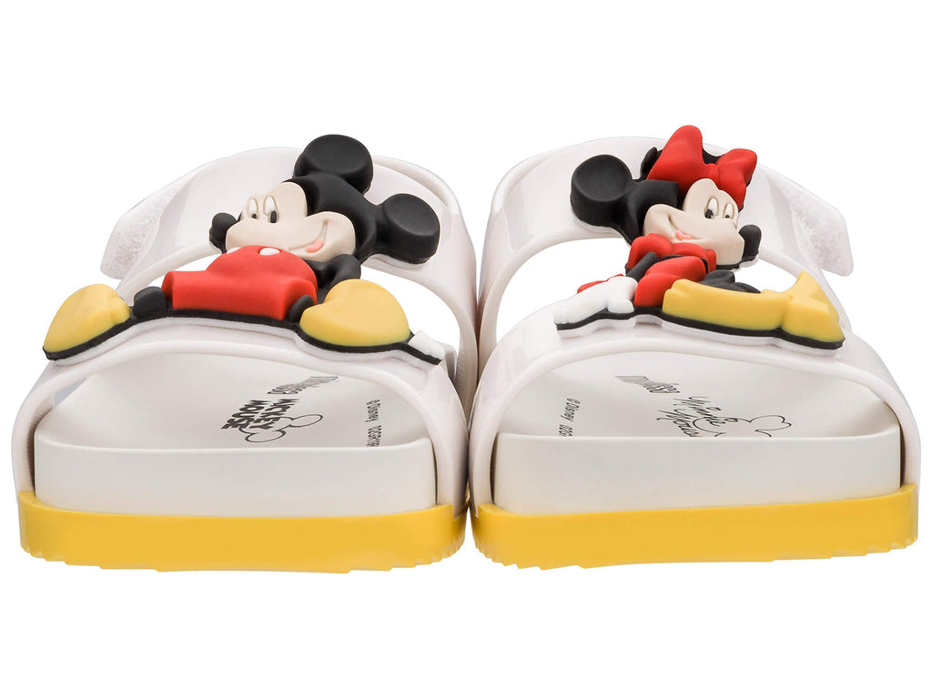 Mini Melissa Cosmic Sandal + Disney Twins White Gloss