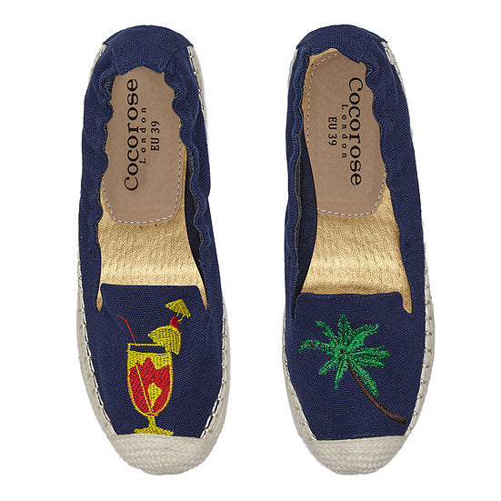 Cocorose London - Carnaby Navy with Tropical Applique
