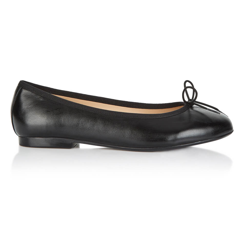 French Sole - Amelie Black Leather PRE-ORDER