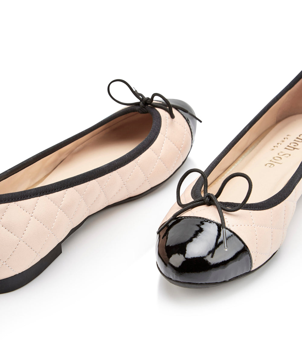 French Sole - Amelie Nude Quilted Leather PRE-ORDER