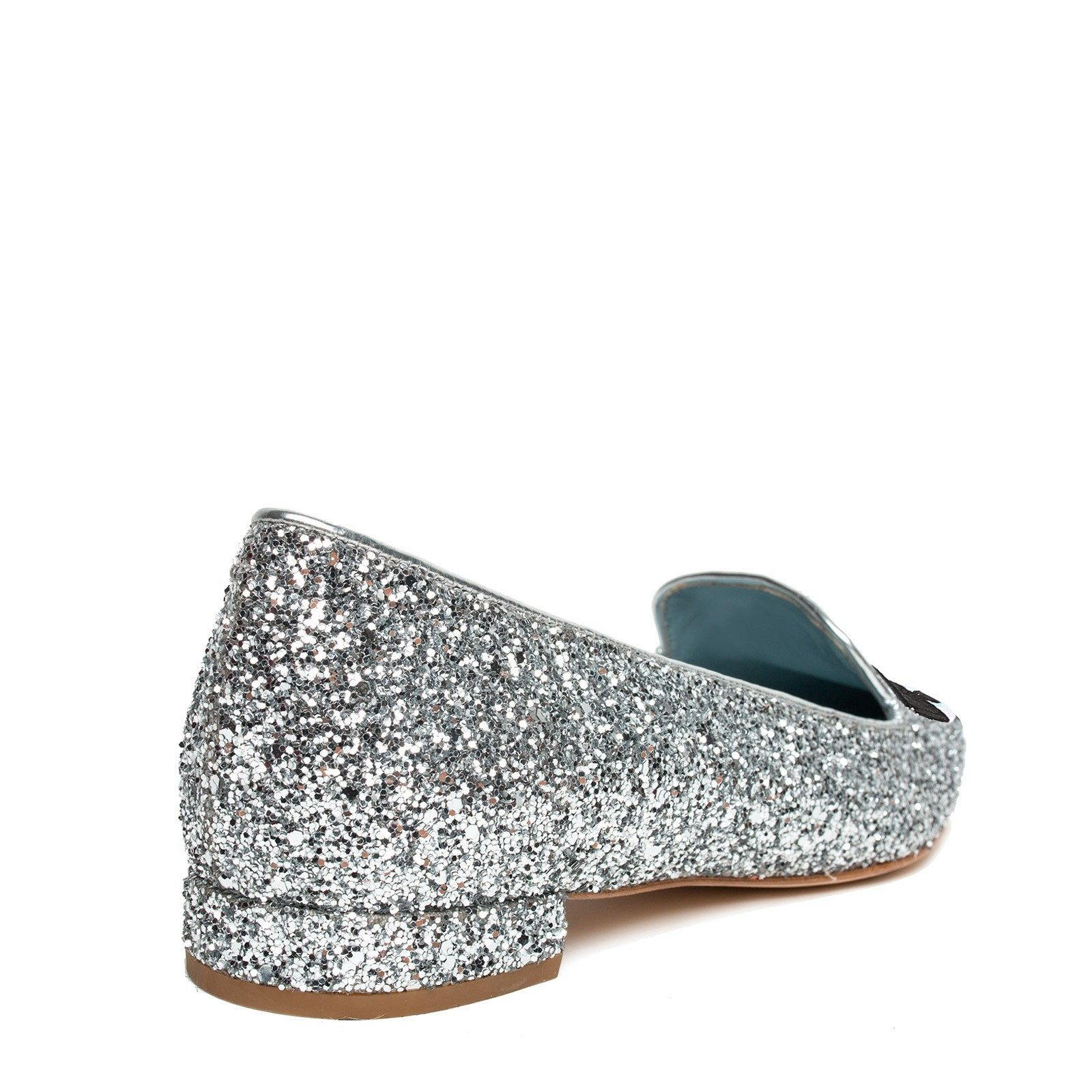 Chiara Ferragni - Flirting Eye Slipper Silver Pointy
