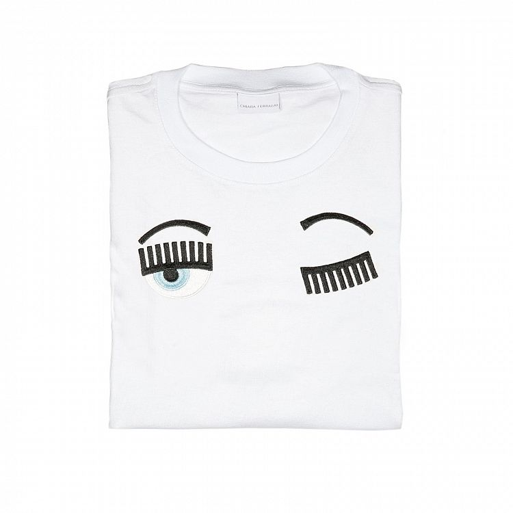 Chiara Ferragni - Flirting Eye T-Shirt Long Sleeve White