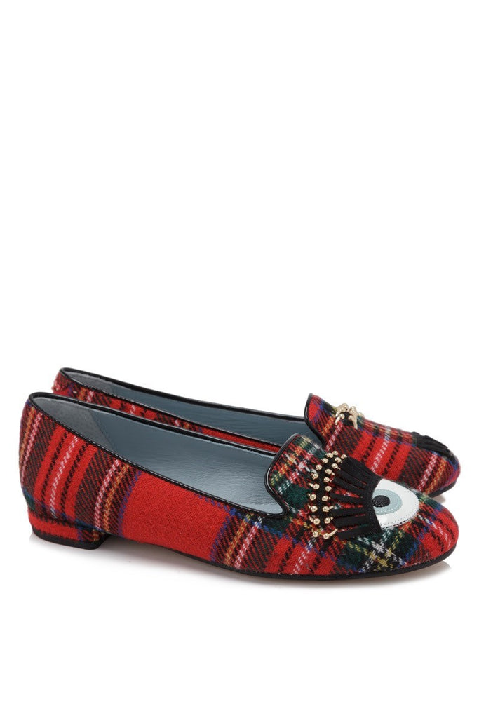 Chiara Ferragni - Flirting Slipper Red Textile