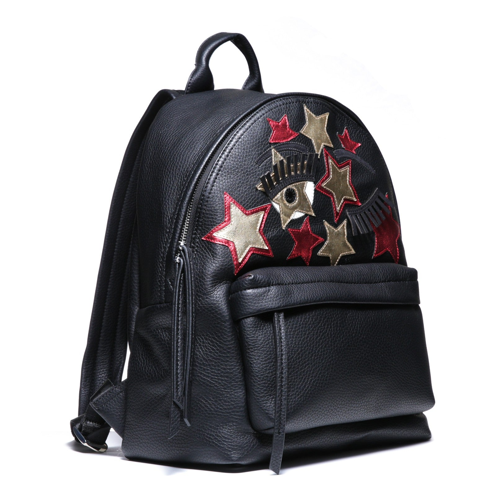 Chiara Ferragni - Flirting Backpack Black with Red/Gold Star