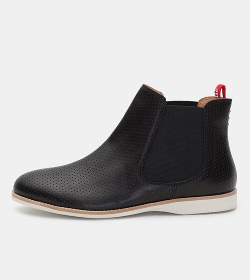 Rollie - Chelsea Pin Punch Black Boot