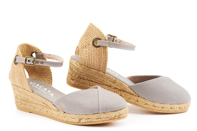 Viscata - Pupol Canvas Espadrille Wedges Ash Grey PRE-ORDER