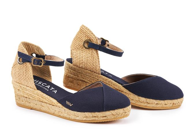 Viscata - Pupol Canvas Espadrille Wedges Navy PRE-ORDER