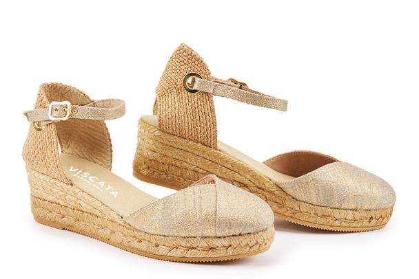 Viscata - Pupol Canvas Espadrille Wedges Gold PRE-ORDER