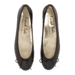 French Sole - Henrietta Quilt Patent Black Leather