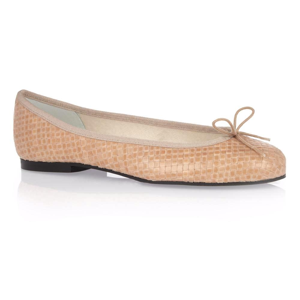 French Sole - Henrietta Woven Leather Nude