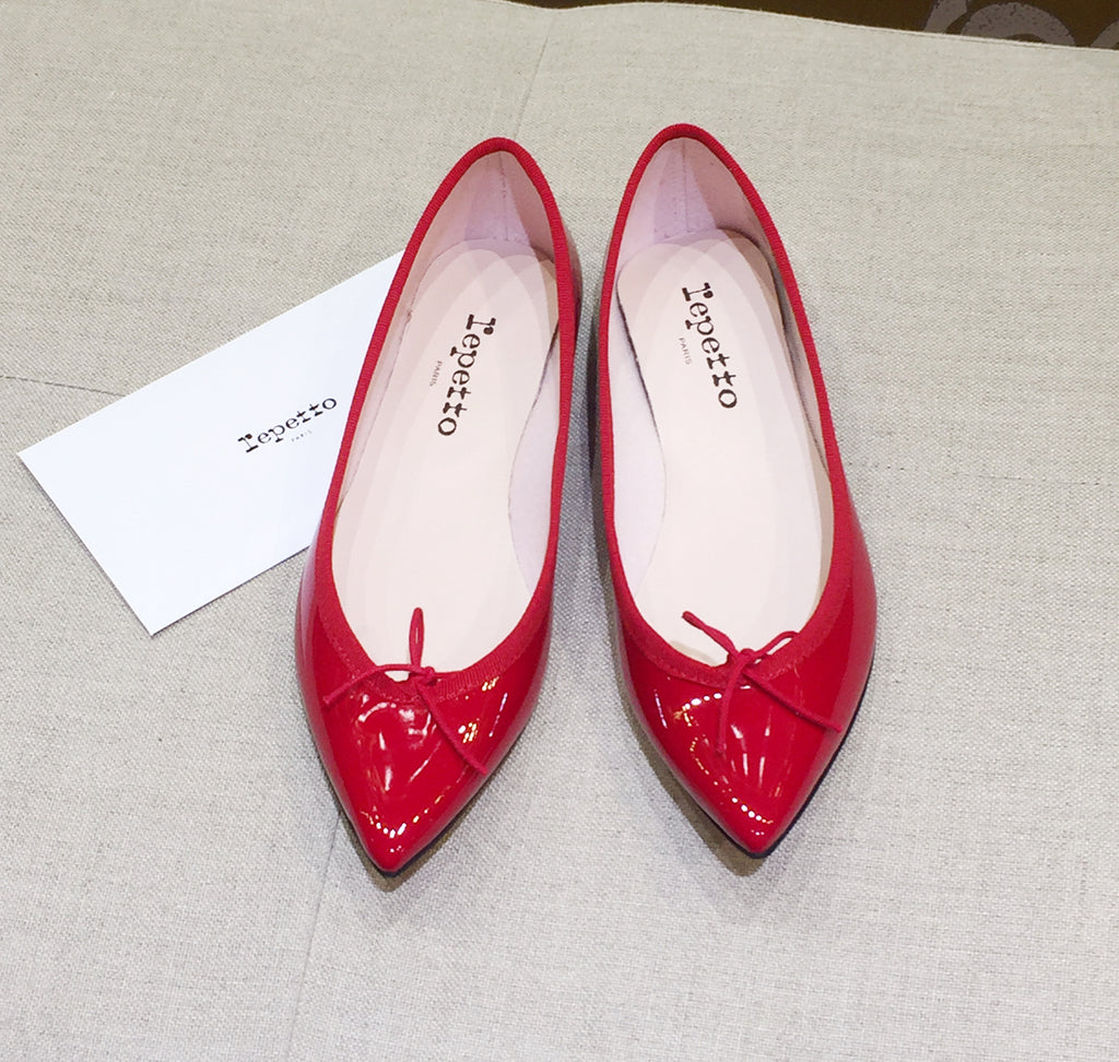 Repetto Paris - Brigette Pointy Ballerina Patent Red