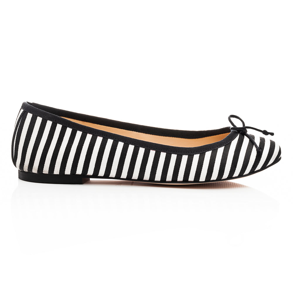 French Sole - Lola Textile Black Stripe PRE-ORDER