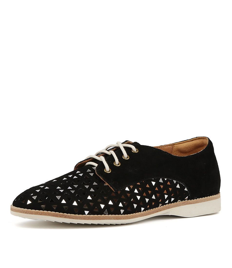 Rollie - Derby Triangle Punch Black Suede