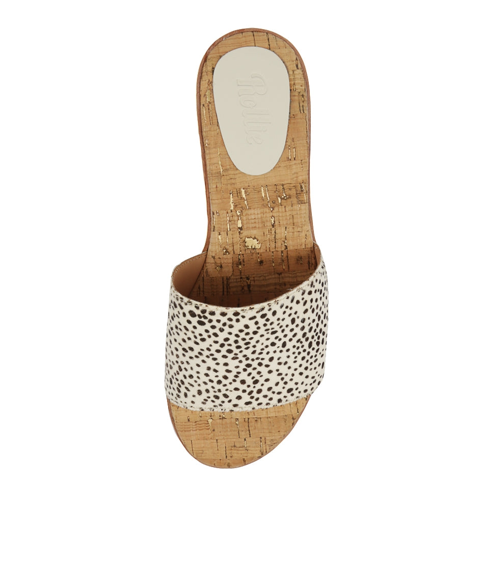 Rollie Nation Sandal Slide Snow Leopard Pony at Ballerine Ballerinas Brisbane