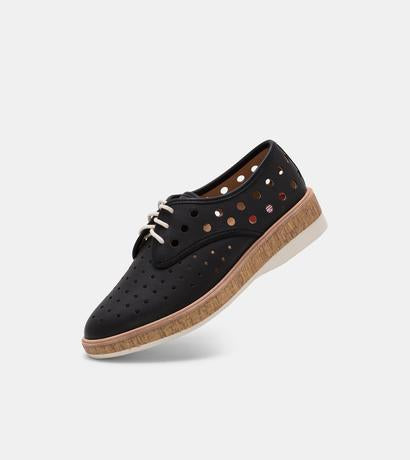 Rollie - Derby Midsole Cork Circle Punch Black
