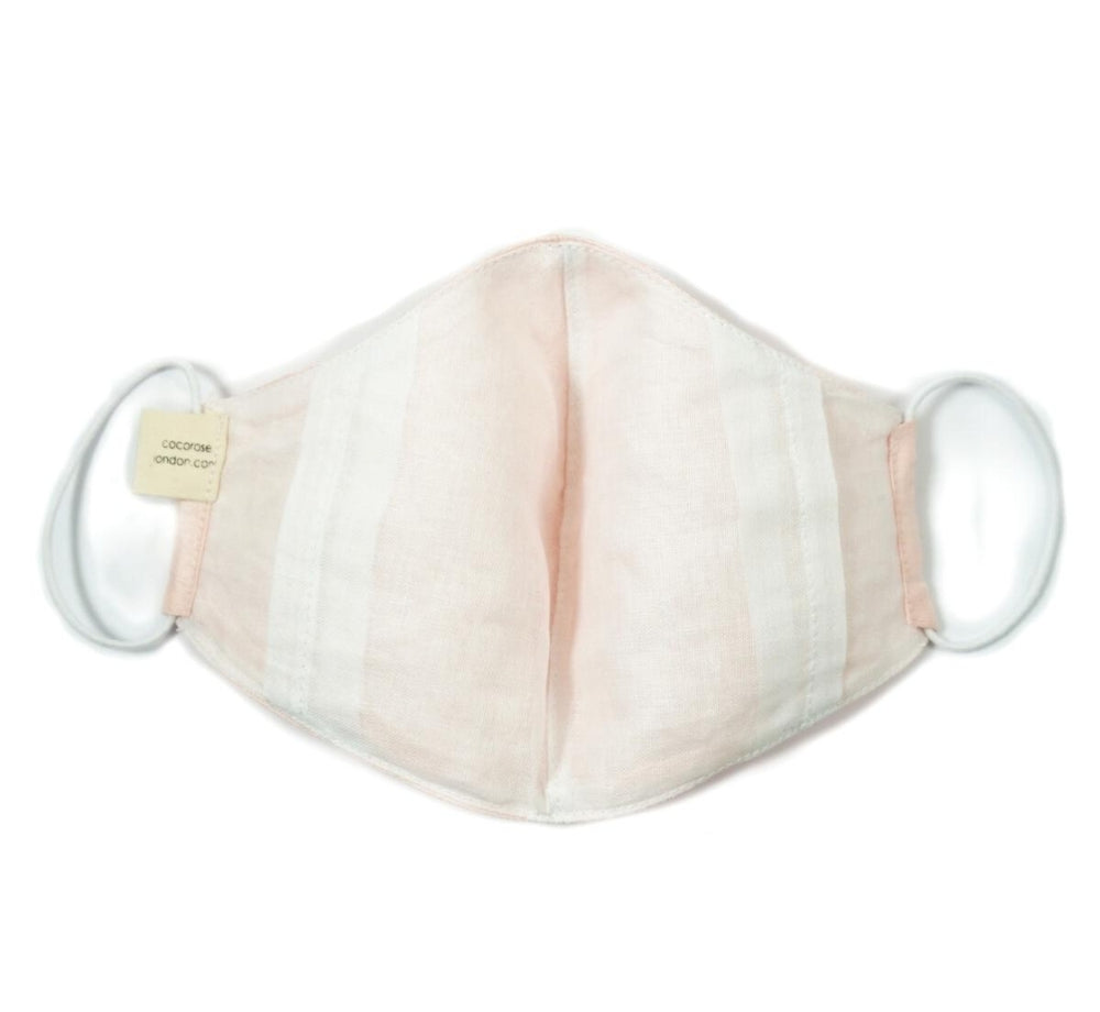 Cocorose London - Peach Silk Face Mask with Filter Pocket/Matching Pouch