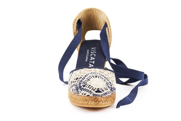 Viscata - Sagaro Crochet Wedges White Navy